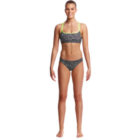 Funkita Criss Cross Top Dames, black widow